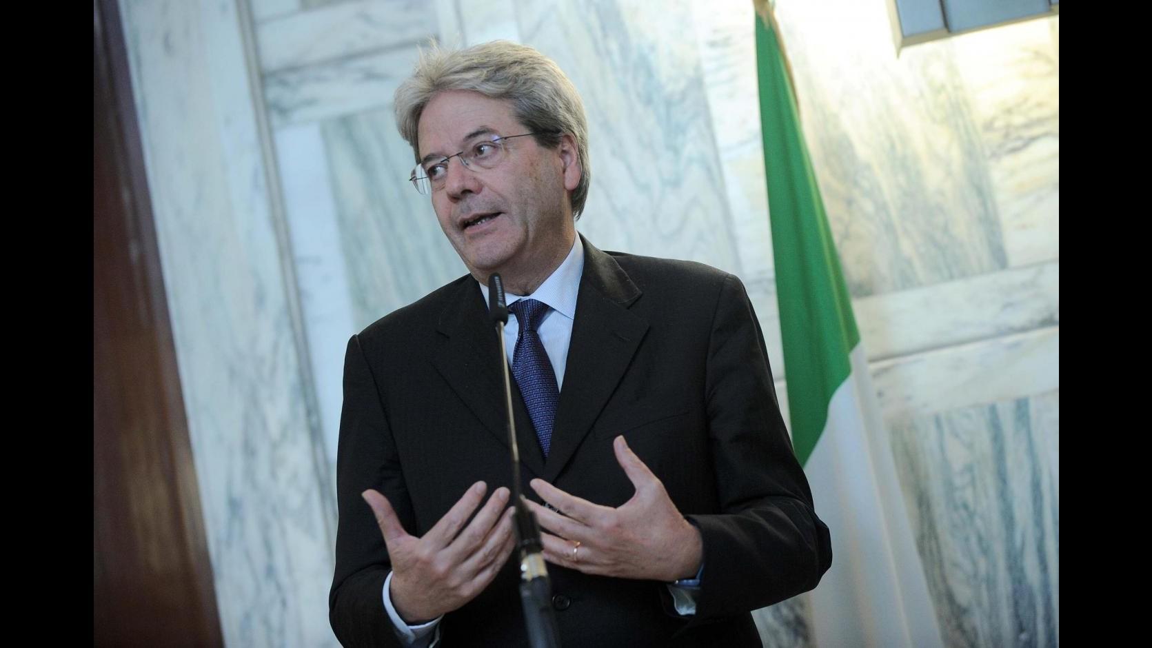 Libia, Gentiloni: Ok Onu è passo decisivo, determinante ruolo Italia