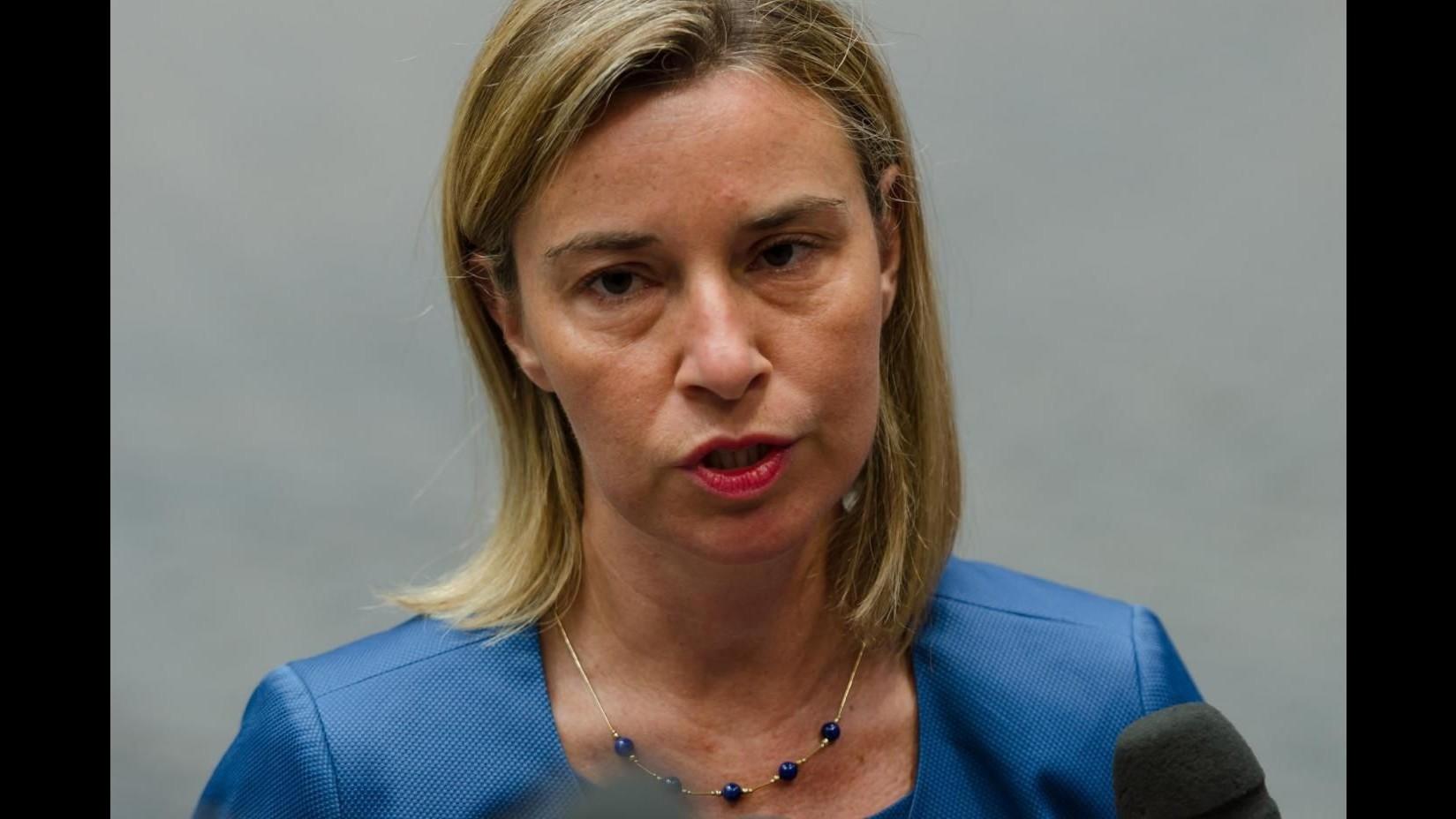 Libia, Mogherini: Il popolo ha sofferto troppo, tempo di voltare pagina