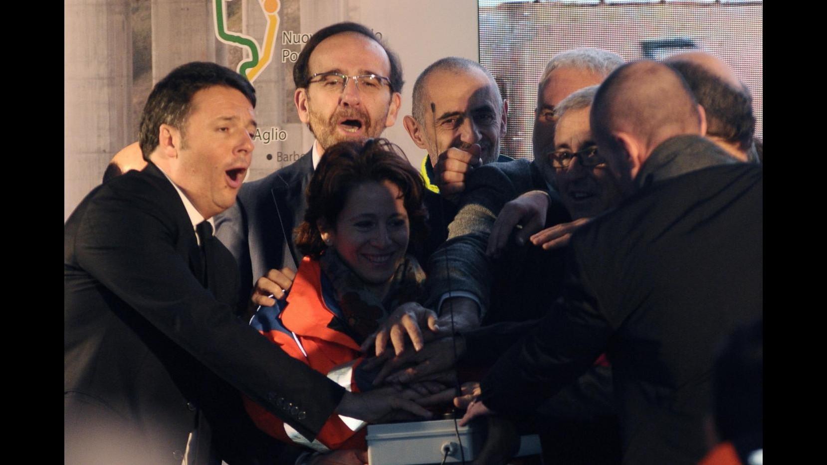 Aperta Variante Valico dopo 11 anni lavori Renzi: Addio professionisti piagnisteo