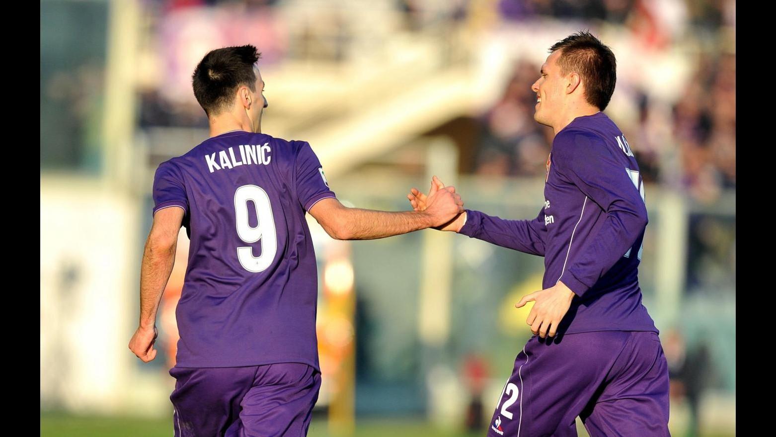 Serie A, Fiorentina torna a vincere: Kalinic-Ilicic stendono Chievo
