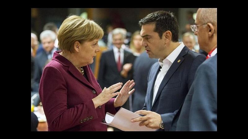Ue, breve colloquio tra Merkel e Tsipras