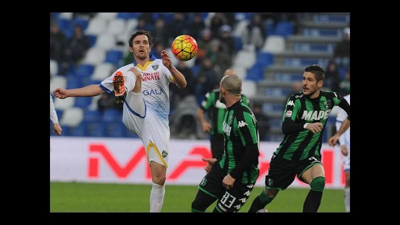 Serie A, pari spettacolo tra Sassuolo e Frosinone, è 2-2