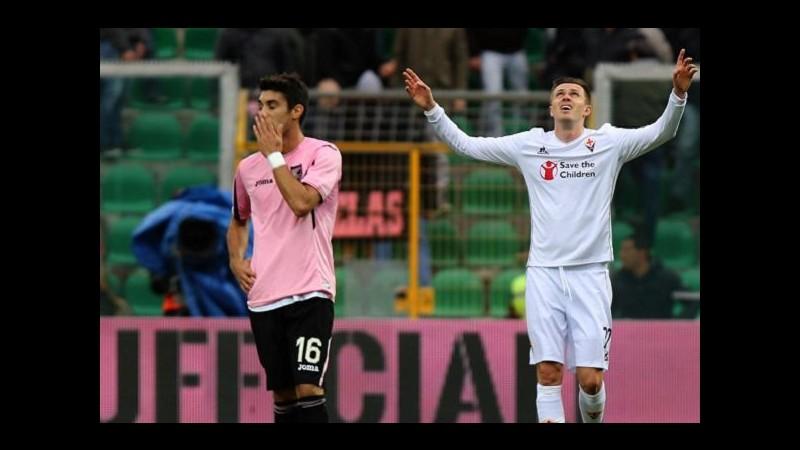 Serie A, Fiorentina espugna il Barbera: Ilicic punisce il Palermo