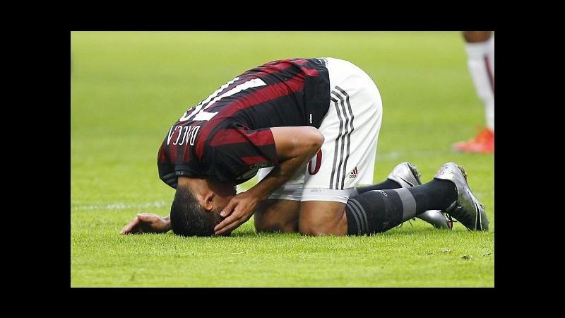 Serie A, colpo Bologna a San Siro, Milan ko 1-0 e contestato