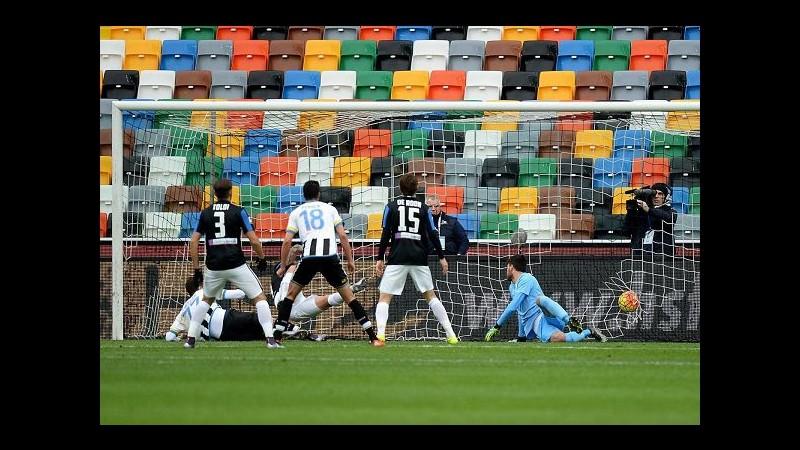 Serie A, Thereau-Perica stendono Atalanta: 2-1 al Friuli