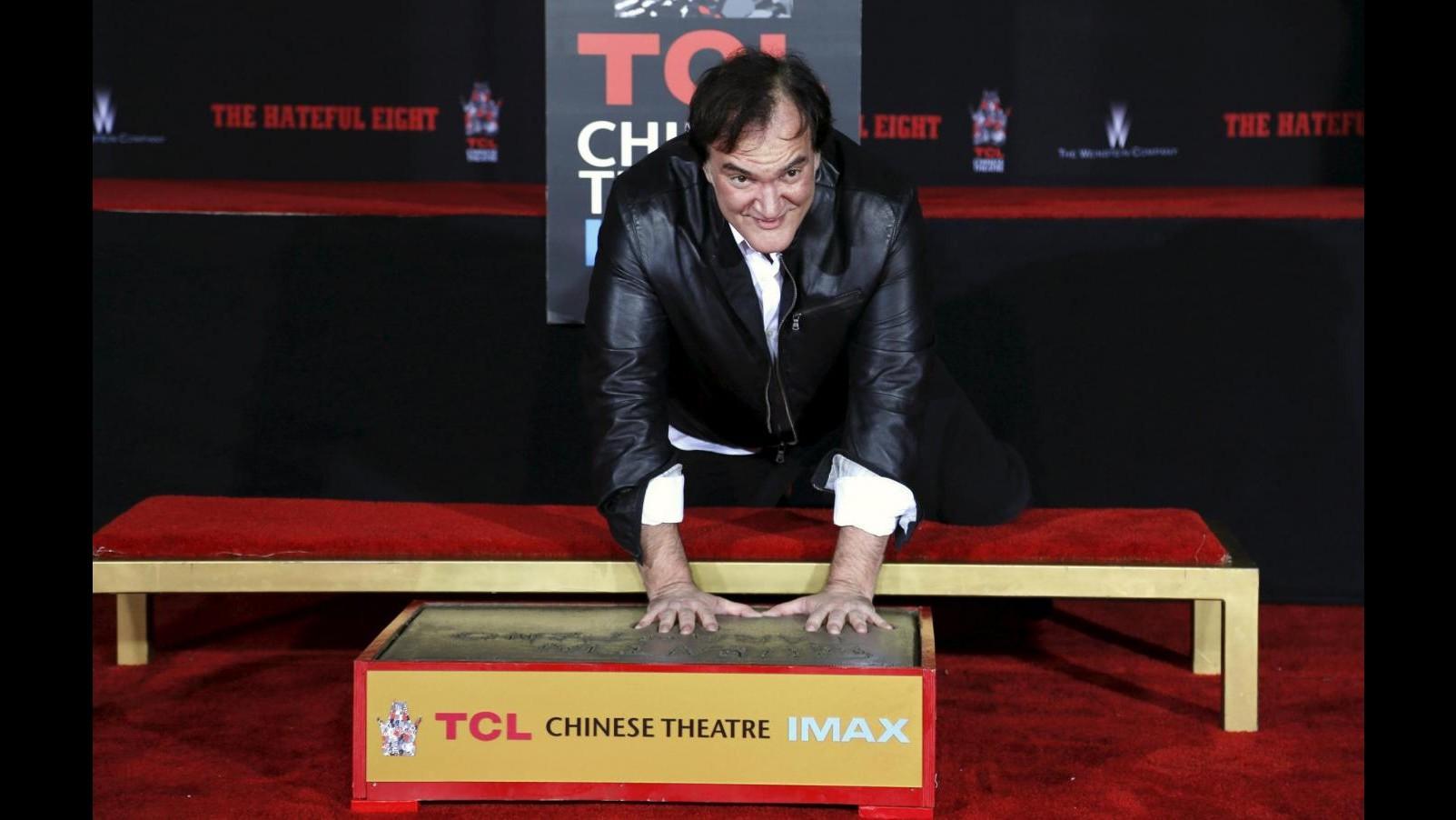 Quentin Tarantino lascia le sue impronte a Hollywood