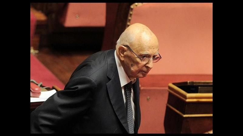 Riforme, Napolitano: Sosterrò il referendum