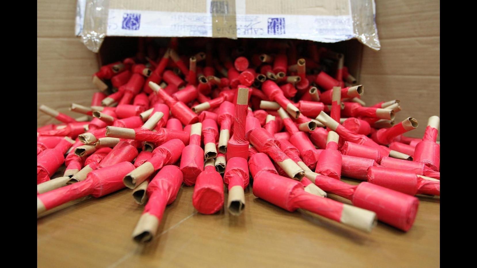 Capodanno, sequestrate tonnellate di botti a Caserta: c'era anche la 'bomba di Parigi'