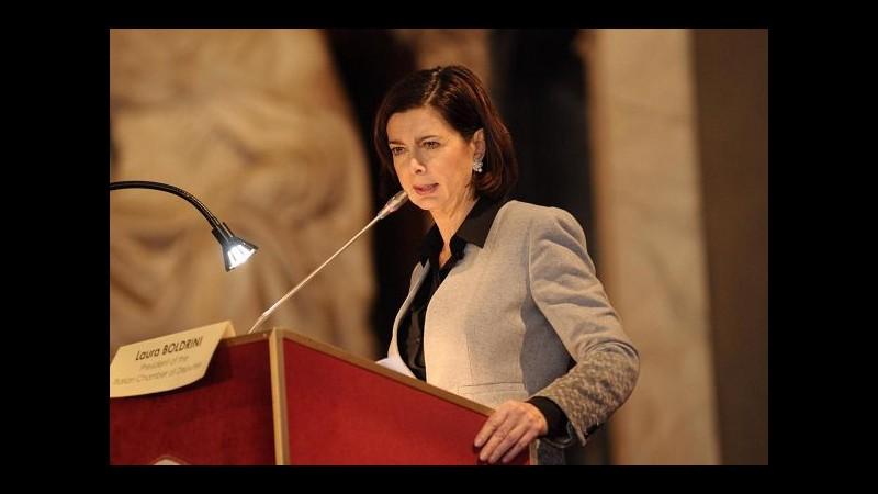 Unioni civili, Boldrini: Riforma che la gente vuole, Italia è indietro