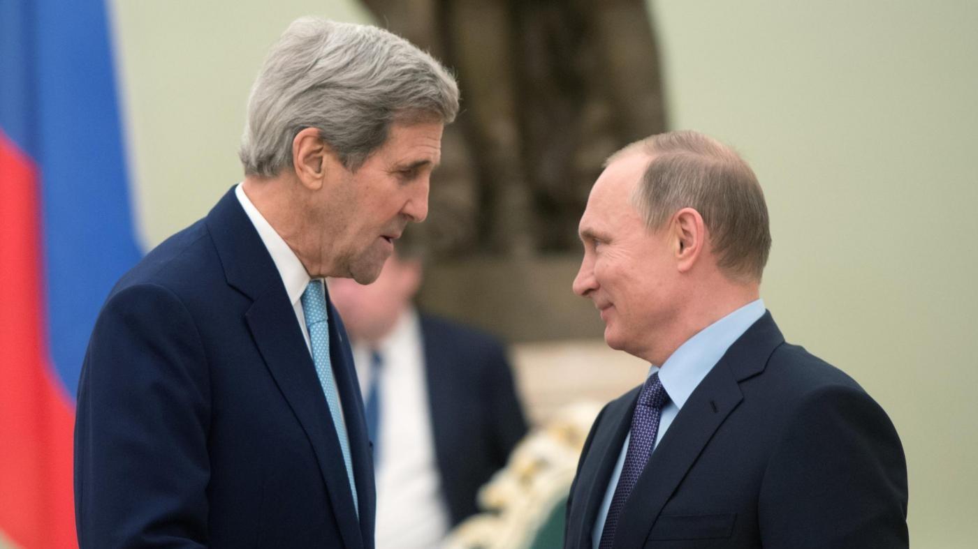 Siria, Putin a Kerry: Cerchiamo con Usa soluzione a crisi