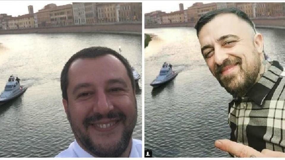 Le due foto a confronto ©