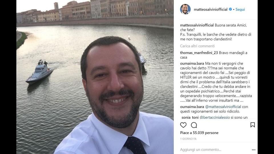 Il post di Salvini ©