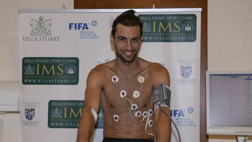 AS Roma, visite mediche per Javier Pastore ©Luciano Rossi AS Roma/LaPresse