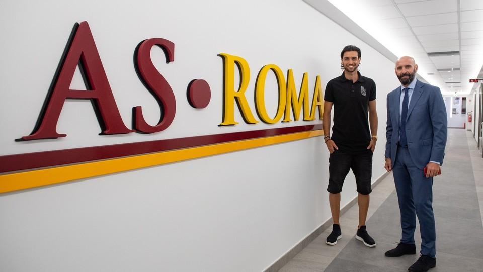AS Roma, Javier Pastore visita il centro sportivo ©Fabio Rossi AS Roma/LaPresse