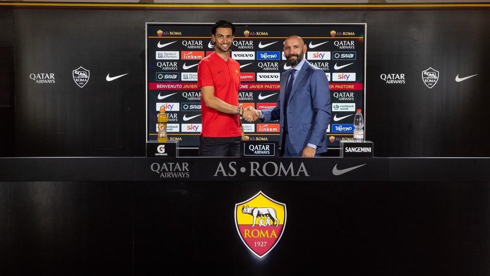 AS Roma: perfeziona l'ingaggio di  Javier Pastore ©Fabio Rossi AS Roma/LaPresse