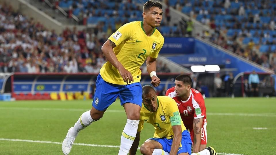 Thiago Silva dopo il gol del 2-0 ©Fabio Ferrari/LaPresse