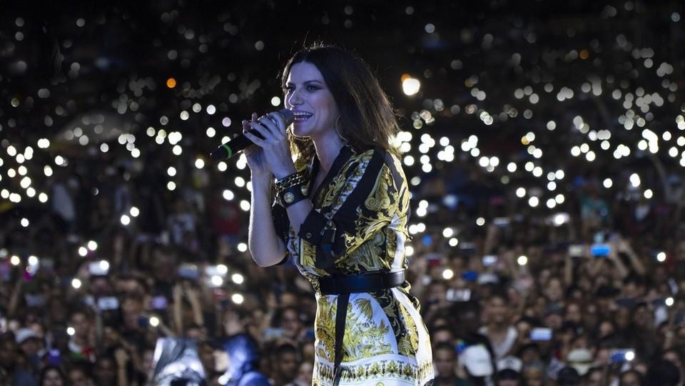 Laura Pausini in concerto a Cuba ©Ufficio stampa Goigest/LaPresse