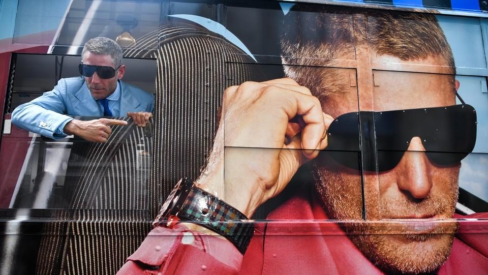 Lapo Elkann volto della nuova collezione Laps Collection di Italia Independent ©Piero Cruciatti/LaPresse