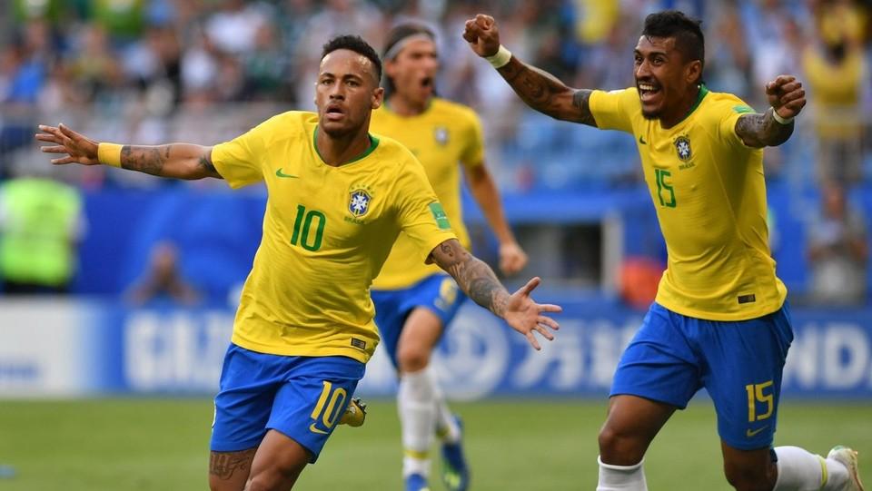 L'esultanza di Neymar dopo il primo gol ©AFP/LaPresse
