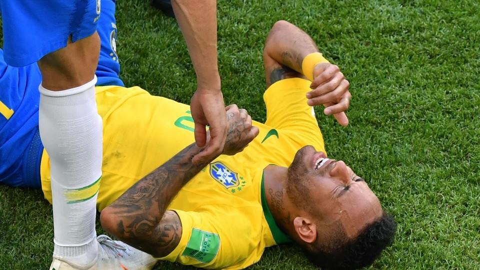 Neymar, il dolore ©AFP/LaPresse