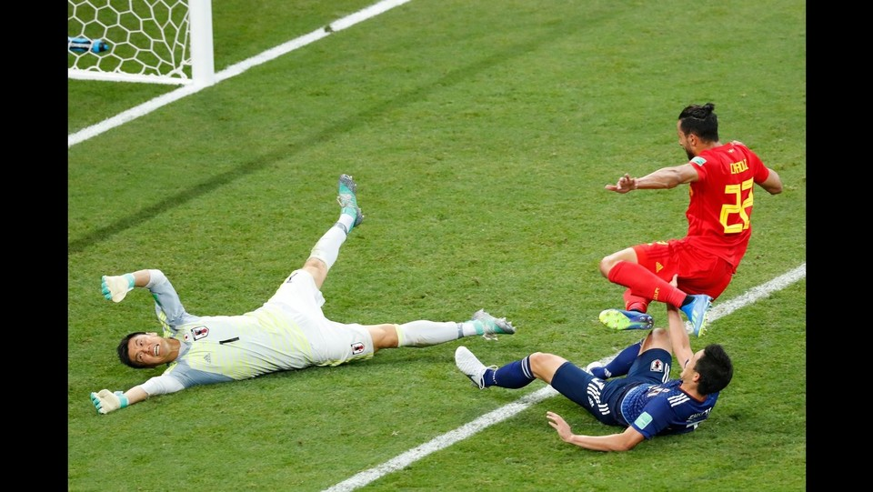 94' All'ultimo minuto del secondo tempo Chadli segna e firma la vittoria del Belgio: 3-2 ©AFP/LaPresse