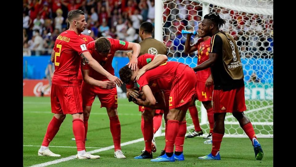 Il Belgio esulta a fine gara ©AFP/LaPresse