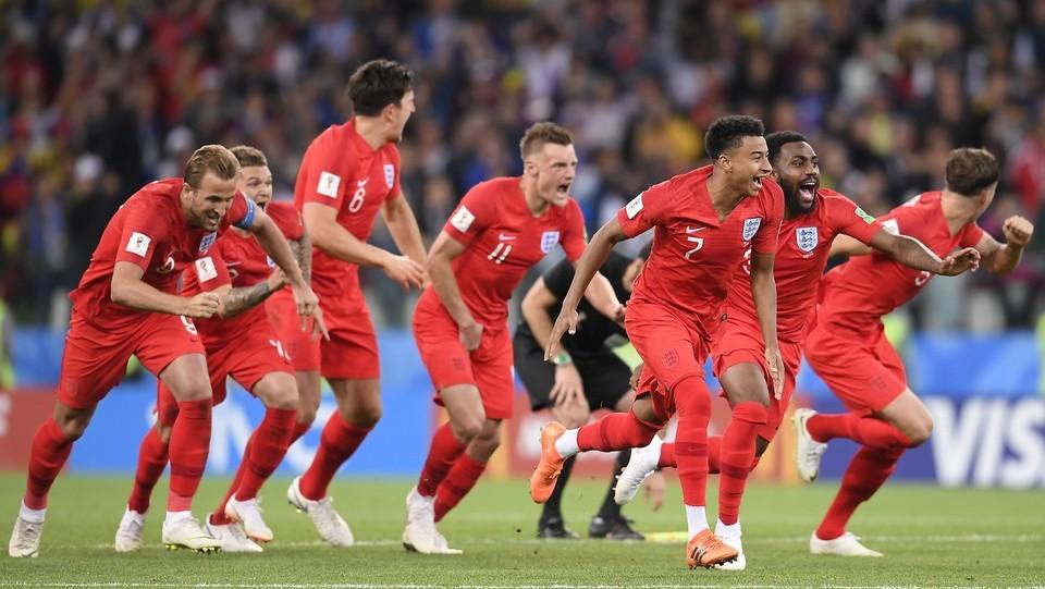 La squadra inglese esulta per la vittoria ai rigori ©Fabio Ferrari/LaPresse