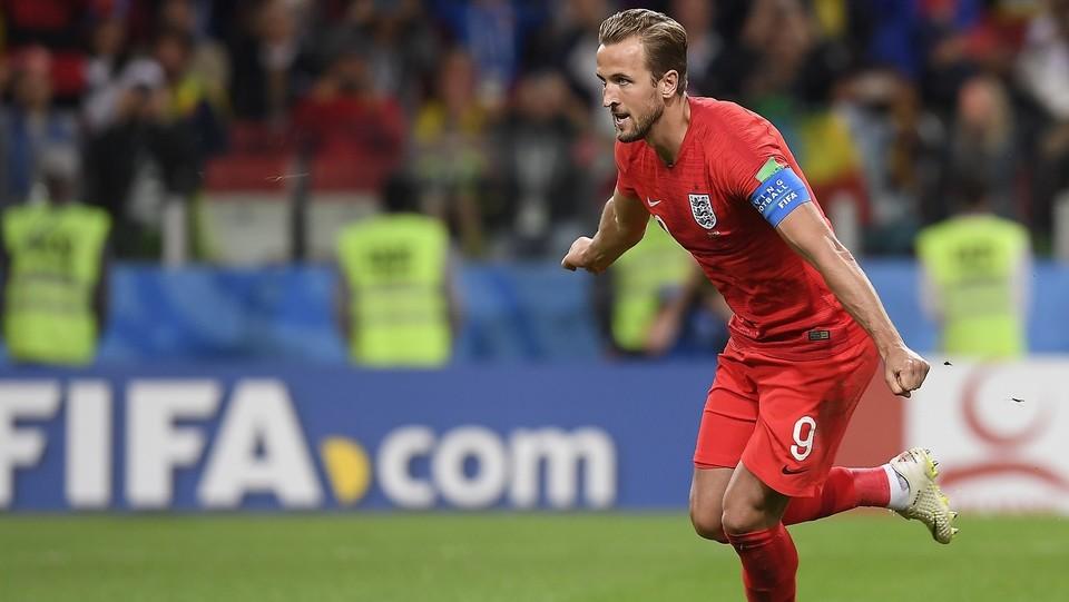L'esultanza di Kane dopo il gol ©Fabio Ferrari/LaPresse