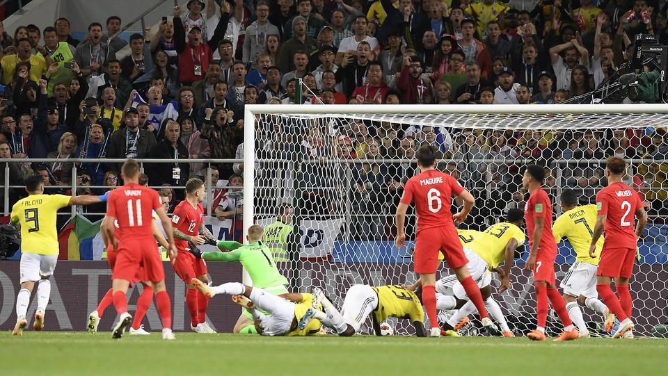 Il gol di Mina al 93' ©Fabio Ferrari/LaPresse