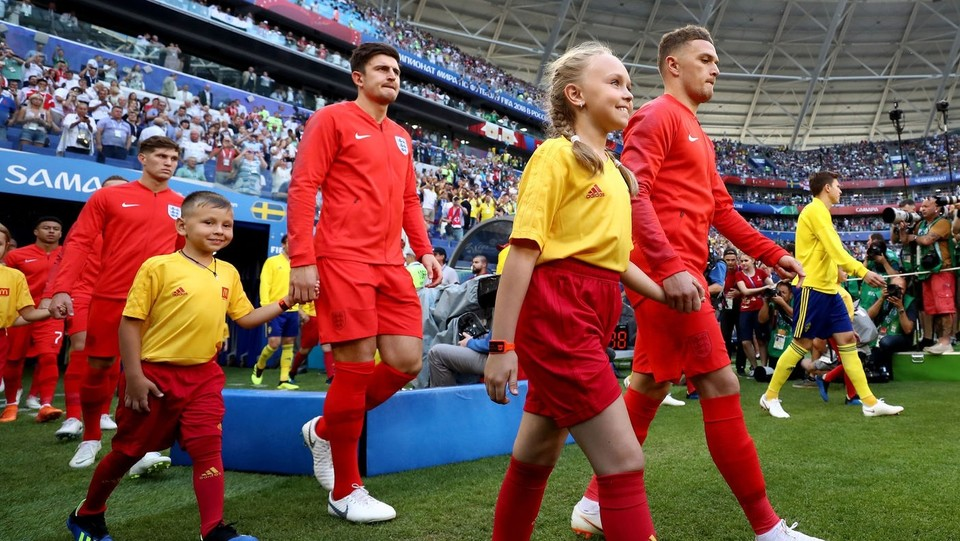 Svezia e Inghilterra entrano in campo ©PA/Lapresse
