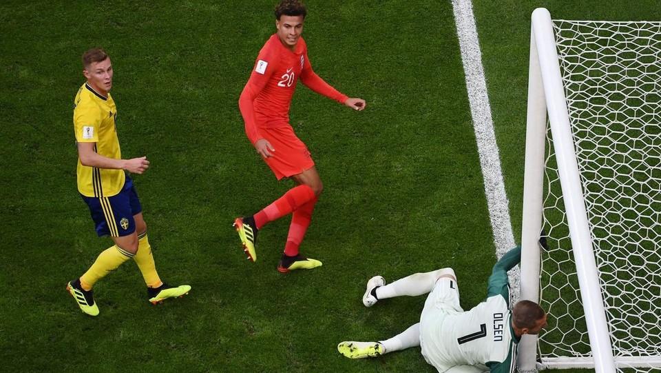 Il gol di Dele Alli ©AFP/LaPresse