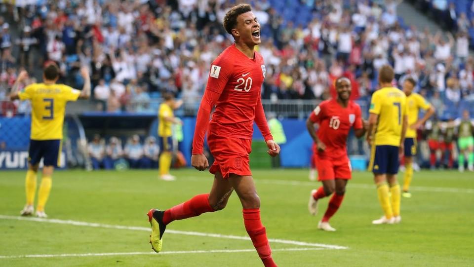L'inglese Dele Alli festeggia il secondo gol ©PA/Lapresse
