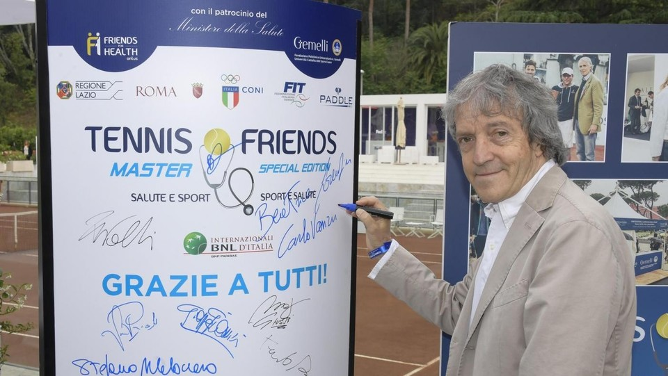 Carlo Vanzina all'evento benefico Tennis&Friends nel 2017 ©Mario Cartelli/LaPresse