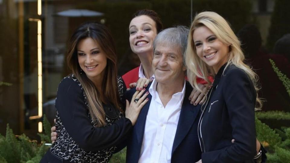 Manuela Arcuri, Stefania Rocca, Carlo Vanzina, Ria Antoniou, il film 'Non si ruba a casa dei ladri' ©LaPresse/Mario Cartelli