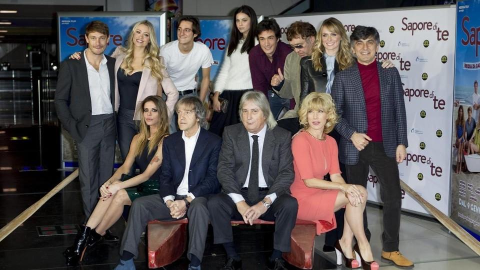 Carlo Vanzina e il cast del film 'Sapore di te' del 2014 ©LaPresse