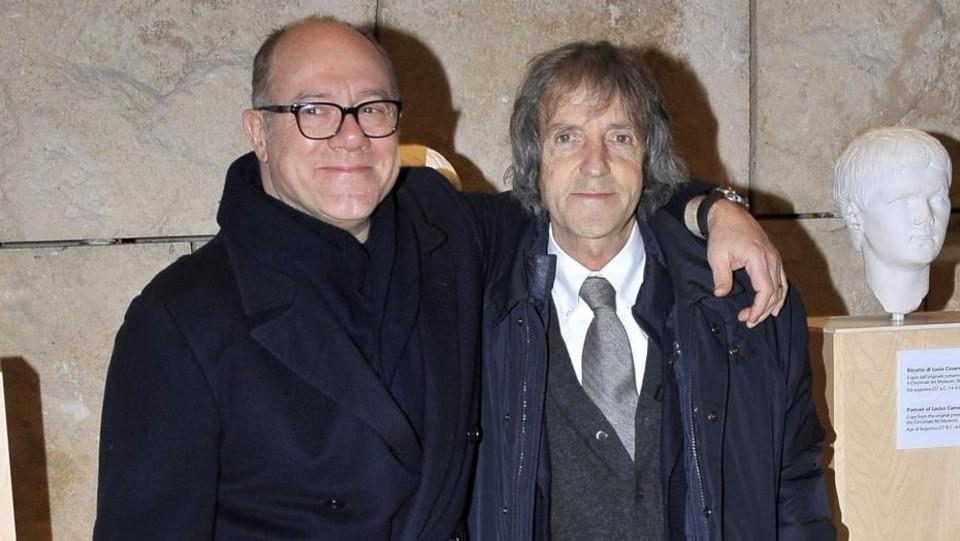 Carlo Verdone con Carlo Vanzina alla mostra dedicata a Vittorio De Sica ©Mario Cartelli