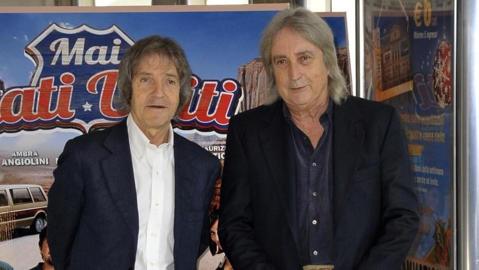 Enrico e Carlo Vanzina alla presentazione del fil 'Mai Stati Uniti' del 2012 ©LaPresse/Mario Cartelli