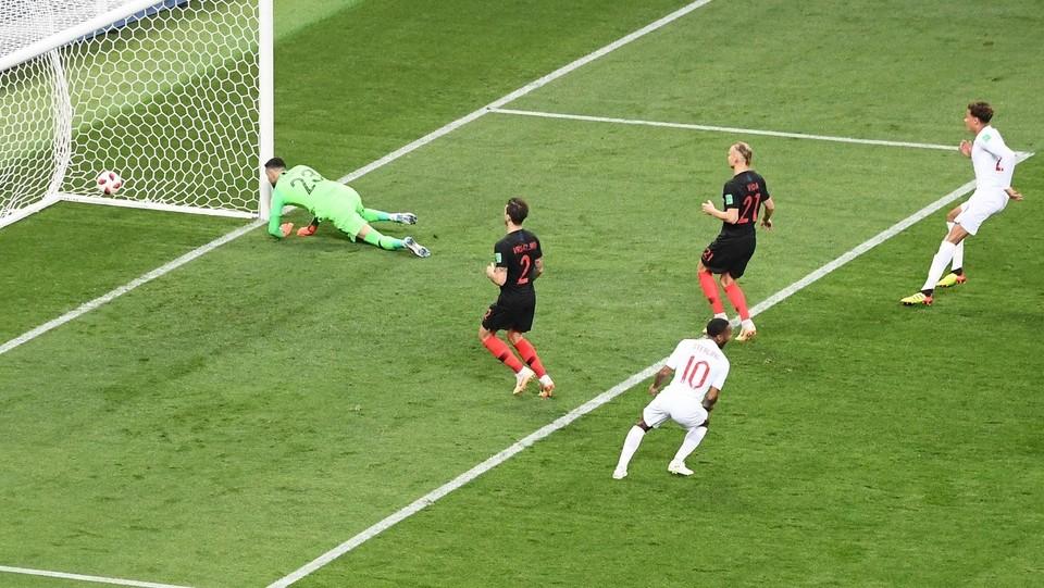 5' Inghilterra subito in vantaggio grazie al gol di Trippier ©AFP/LaPresse