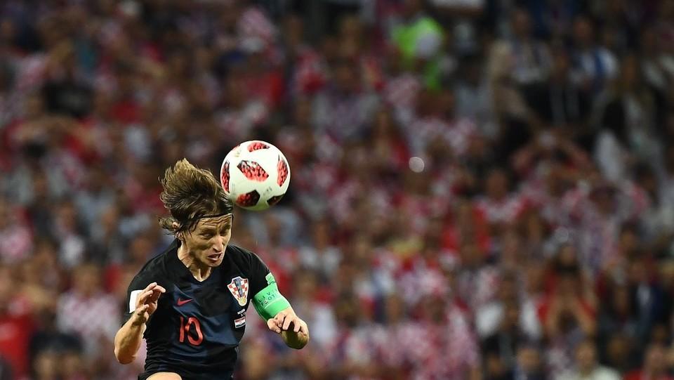 Azione di Luka Modric (Croazia) ©AFP/LaPresse