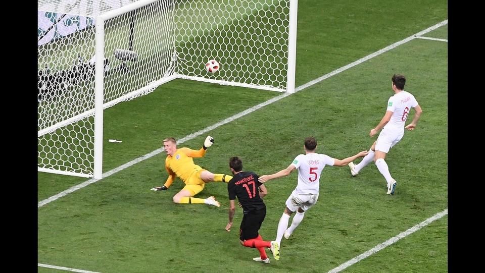 108' Mandzukic segna e porta la Croazia alla vittoria ©AFP/LaPresse