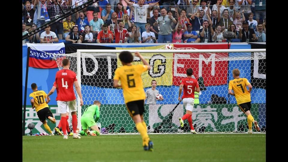 37' del secondo tempo, Hazard raddoppia il risultato del Belgio, 2-0 ©AFP/LaPresse