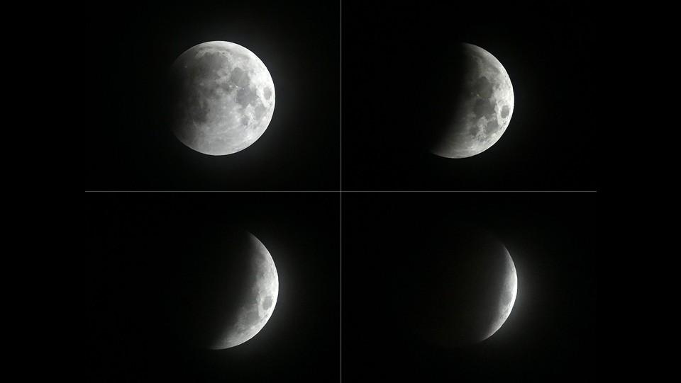 L'eclisse di luna più lunga del secolo vista da Dambulla, in Sri Lanka ©AFP/LaPresse