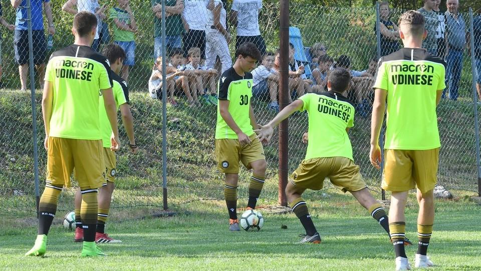 Renzi Junior in campo con la Primavera dell'Udinese ©Diego Petrussi/LaPresse