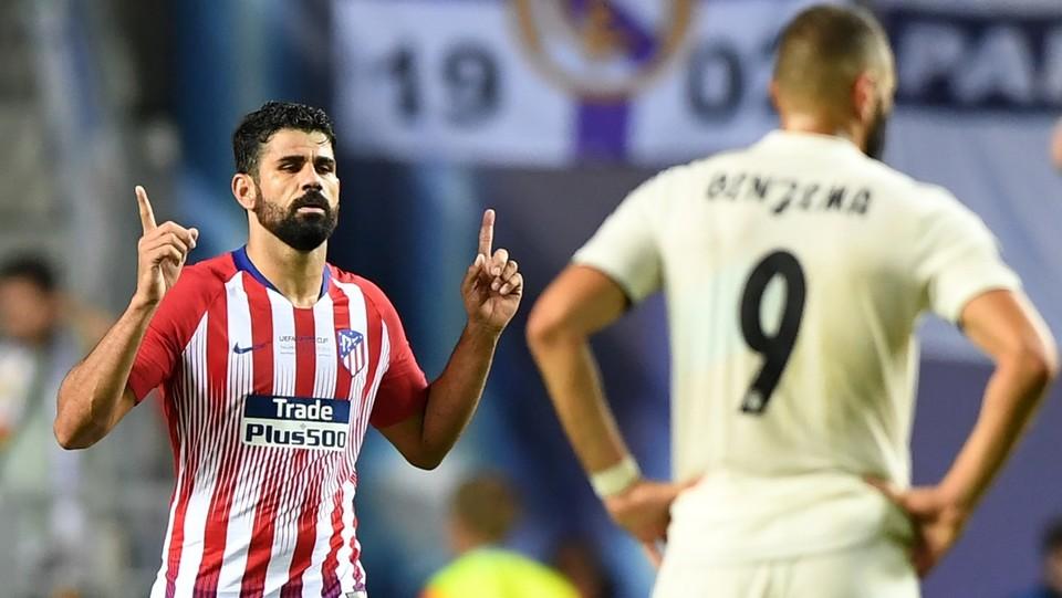 Diego Costa festeggia il secondo gol ©AFP/LaPresse