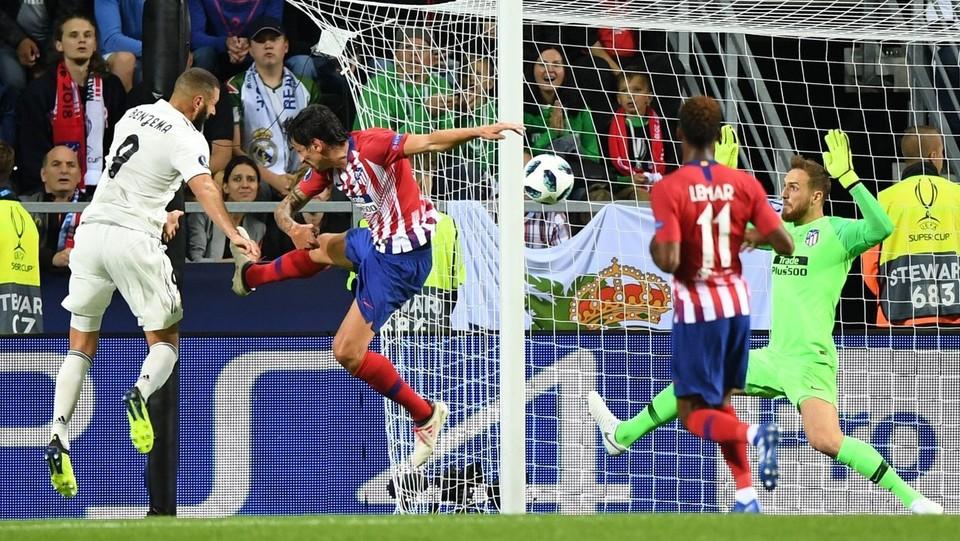 Benzema segna il gol dell'1-1 ©AFP/LaPresse