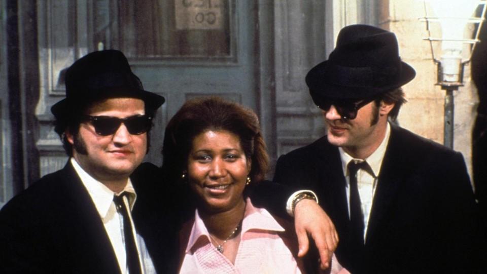 I Blues Broter con Dan Aykroyd, Aretha Franklin e John Belushi nel 1980 ©LaPresse/PictureLux