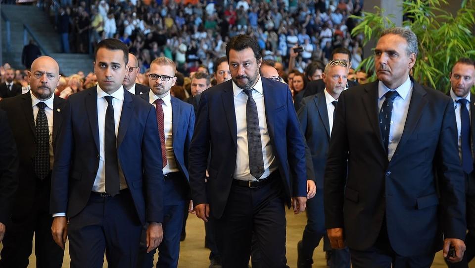 L'ingresso di Luigi Di Maio ministro del Lavoro, e Matteo Salvini ministro degli Interni ©Tano Pecoraro/LaPresse