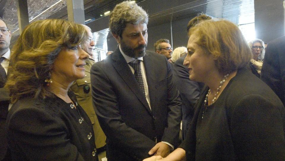 La presidente del Senato, Maria Elisabetta Alberti Casellati, e Roberto Fico ©Stefano Cavicchi/LaPresse