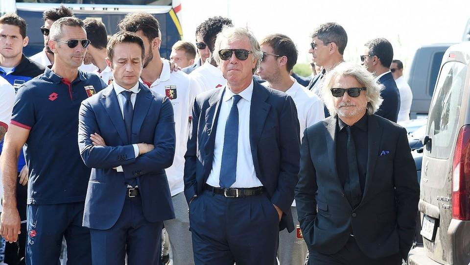 Enrico Preziosi, presidente del Genoa, e Massimo Ferrero, presidente delal Sampdoria ©Tano Pecoraro/LaPresse