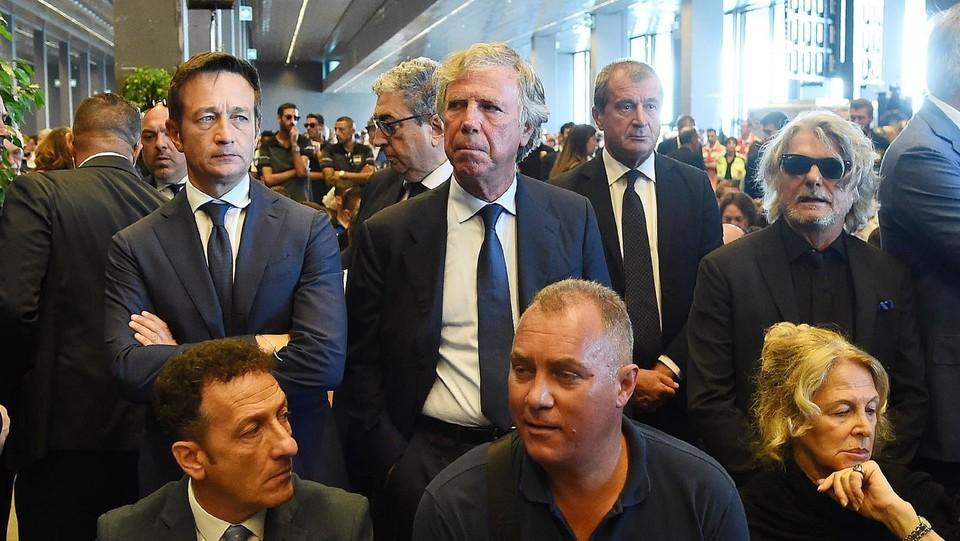 Preziosi e Ferrero ai funerali di Stato per le vittime ©Tano Pecoraro/LaPresse